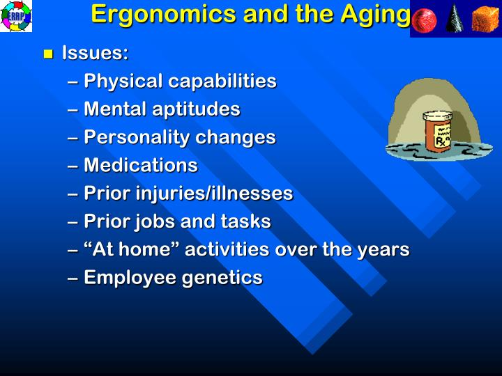 Ergonomics and the Aging