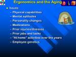 ergonomics and the aging