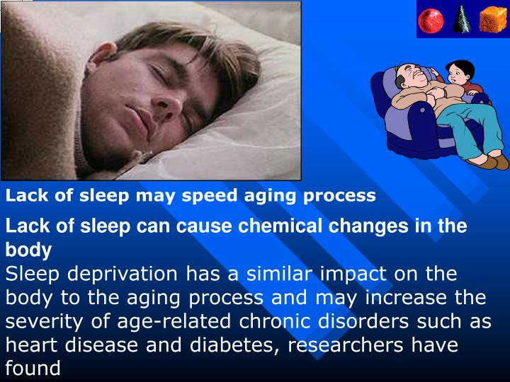 Lack of sleep may speed aging process