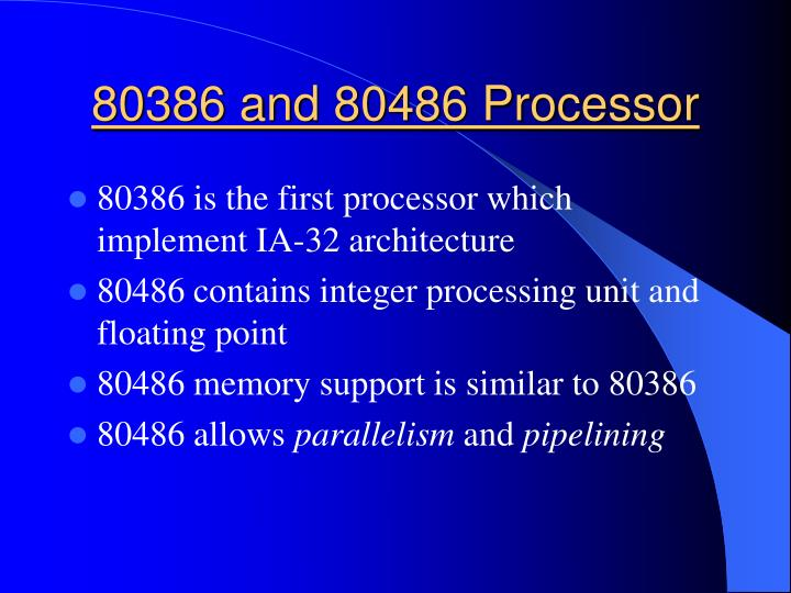 80386 and 80486 Processor
