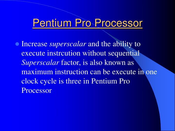 Pentium Pro Processor