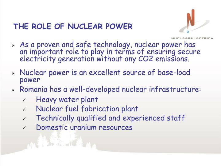 THE ROLE OF NUCLEAR POWER