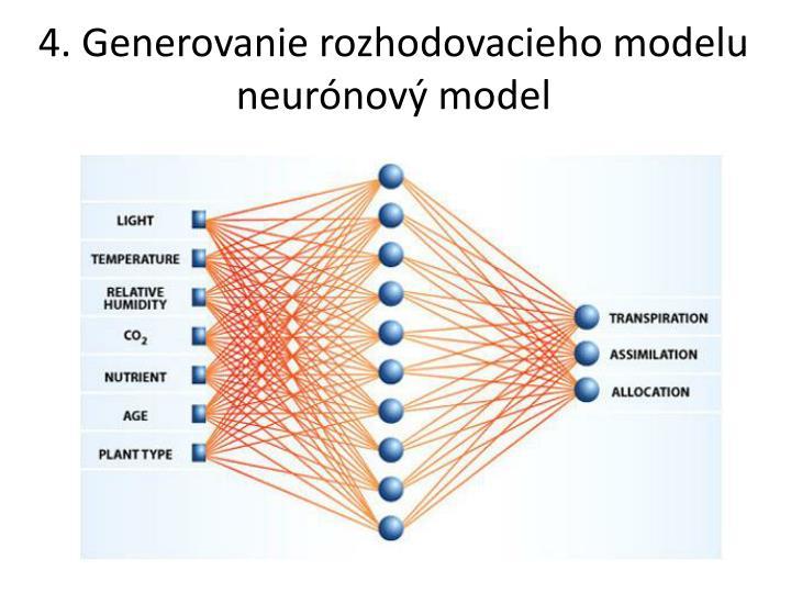 4. Generovanie rozhodovacieho modelu