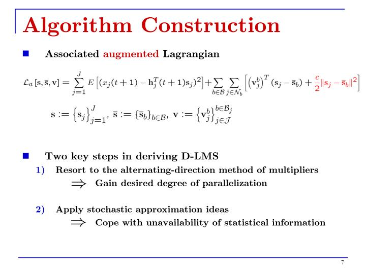 Algorithm Construction