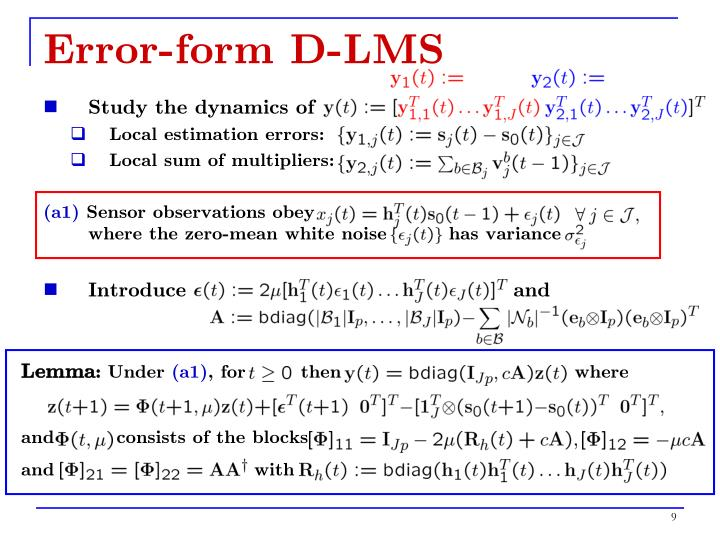 Error-form D-LMS