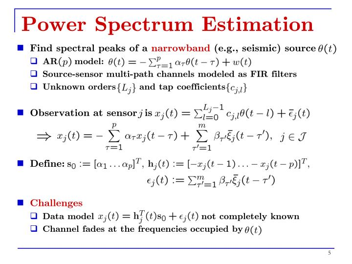 Power Spectrum Estimation