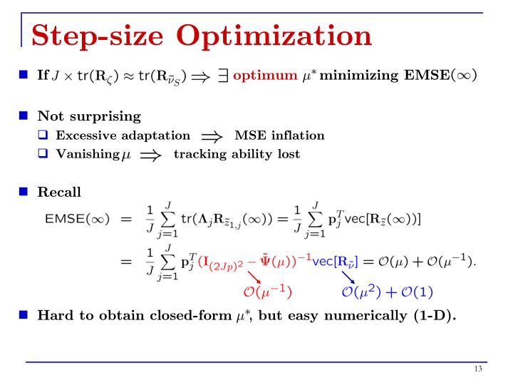 Step-size Optimization