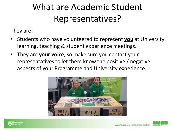 What are academic s tudent representatives