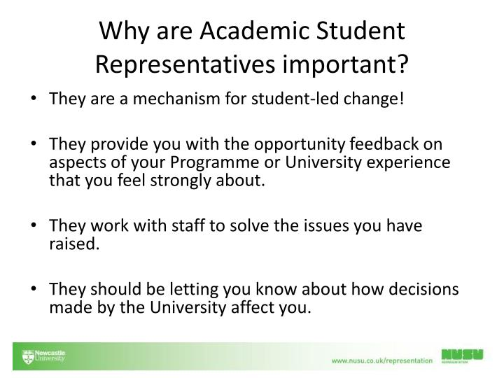 Why are academic student representatives important