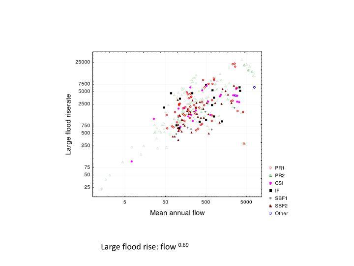 Large flood rise: flow
