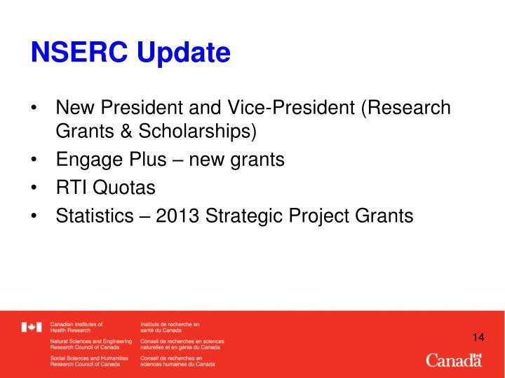 NSERC Update