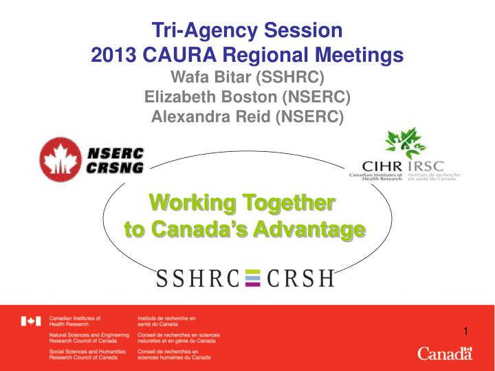 Tri-Agency Session