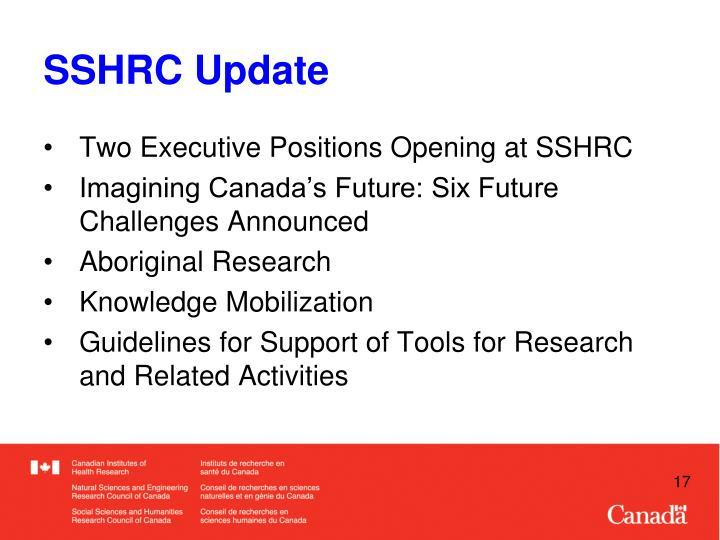 SSHRC Update