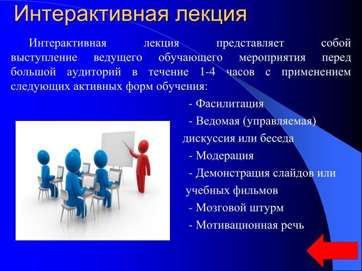 Интерактивная лекция
