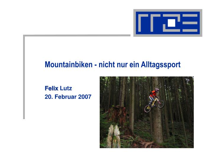 Mountainbiken -