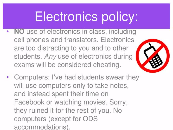 Electronics policy: