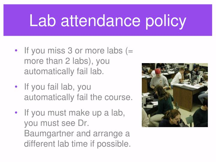 Lab attendance policy