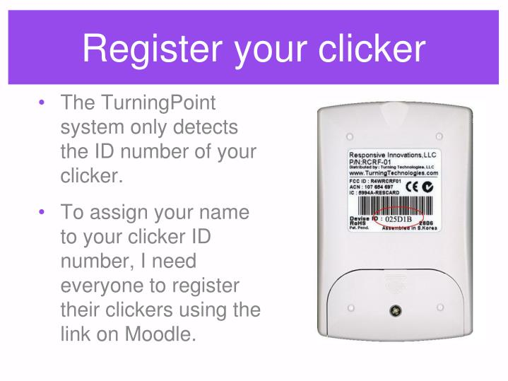 Register your clicker