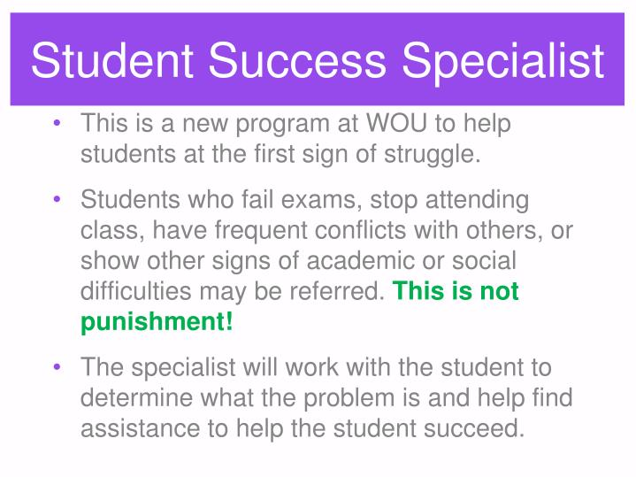 Student Success Specialist