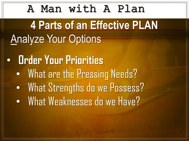 A Man with A Plan