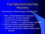 fast retransmit and fast recovery1