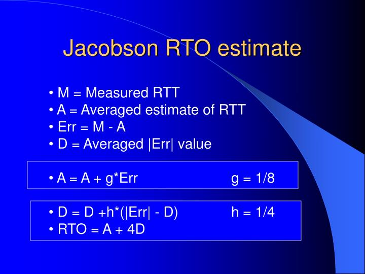 Jacobson RTO estimate