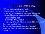 tcp bulk data flow