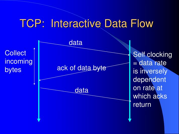 TCP:  Interactive Data Flow