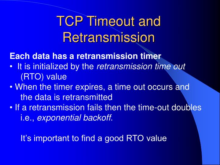 TCP Timeout and Retransmission