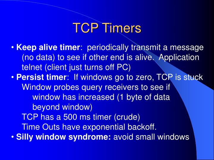 TCP Timers