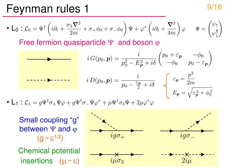 Feynman rules 1