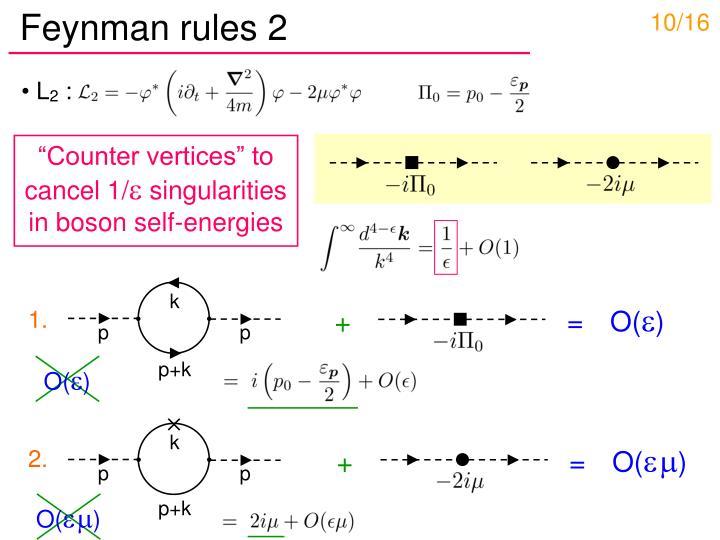 Feynman rules 2