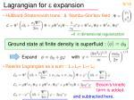 lagrangian for e expansion