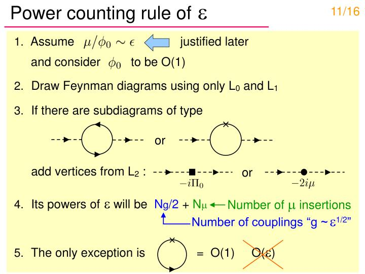 Power counting rule of