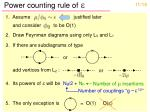 power counting rule of e