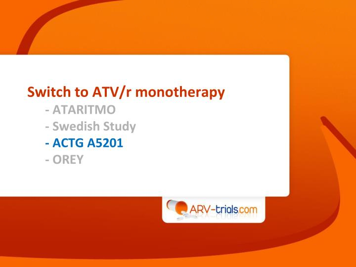 Switch to ATV/r