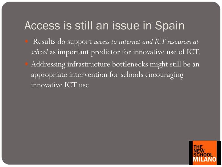 Access is still an issue in Spain