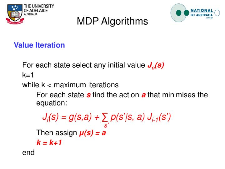 MDP Algorithms