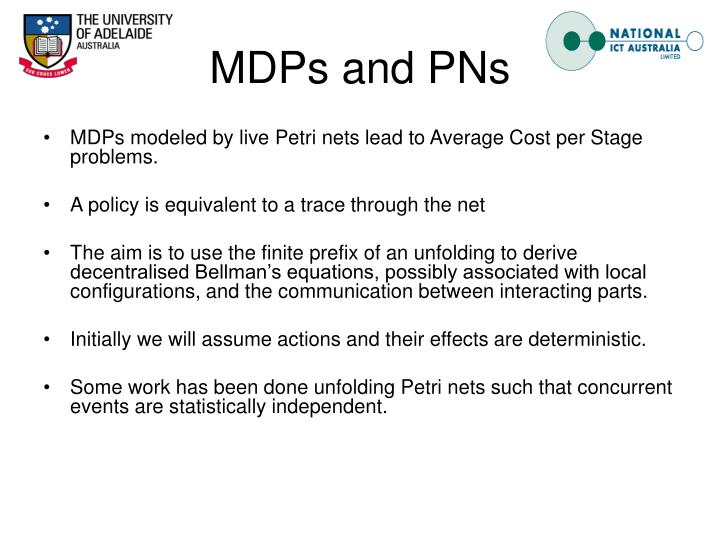 MDPs and PNs