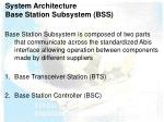 system architecture base station subsystem bss