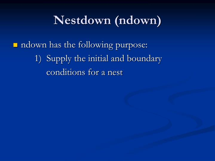 Nestdown (ndown)