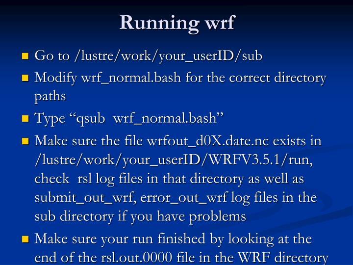 Running wrf