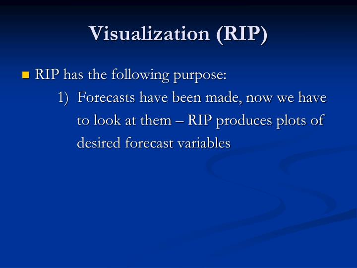 Visualization (RIP)