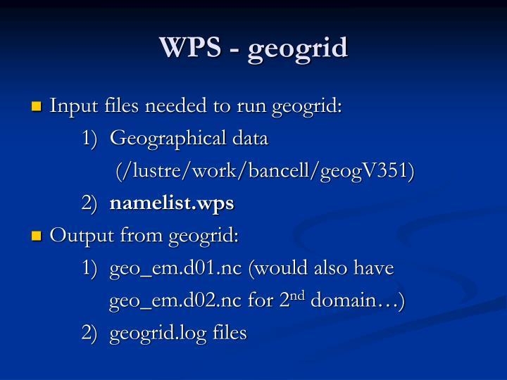 WPS - geogrid