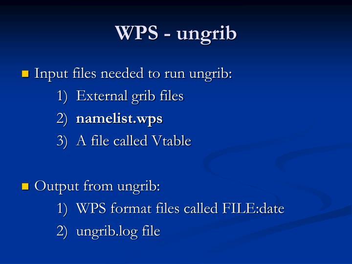WPS - ungrib