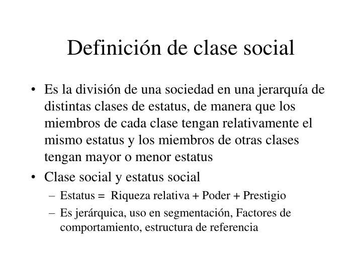 Definición de clase social