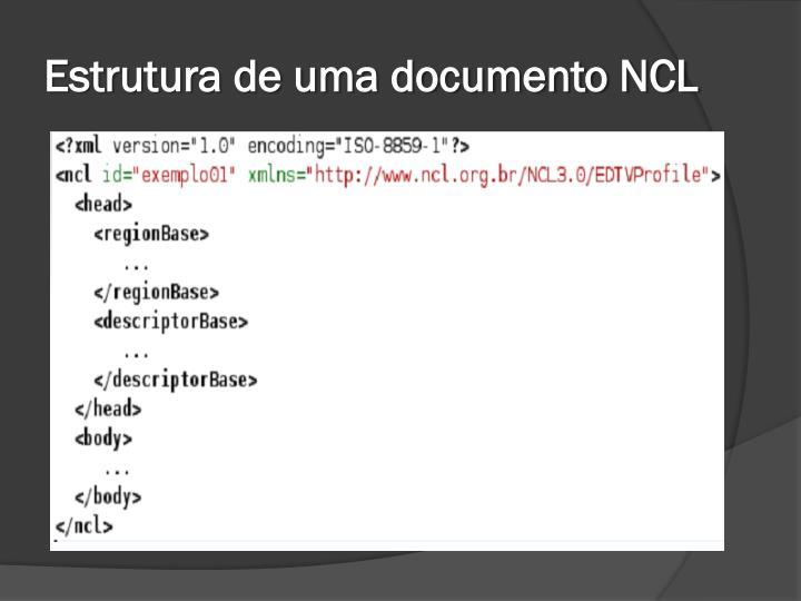 Estrutura de uma documento NCL
