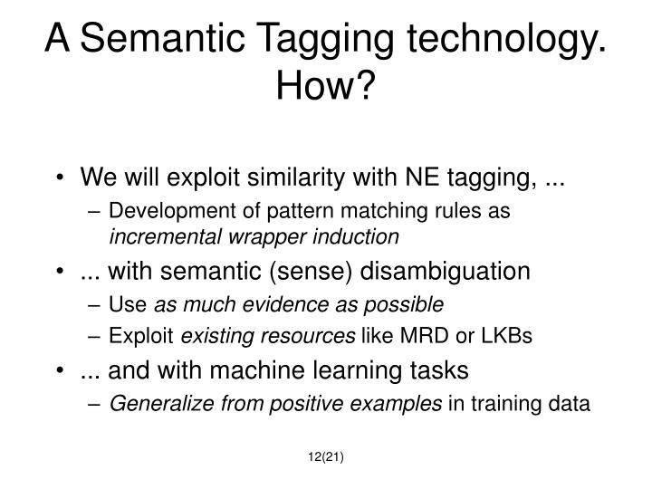 A Semantic Tagging technology. How?