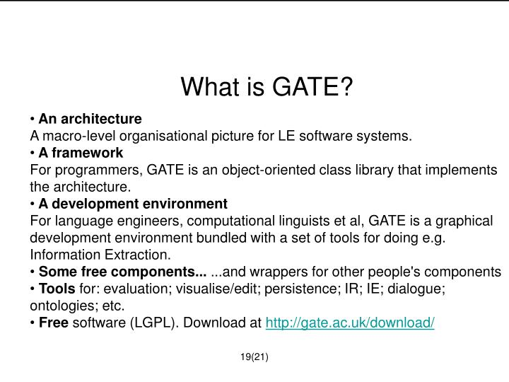 What is GATE?
