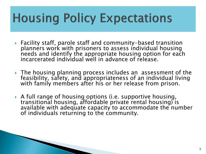 Housing policy expectations